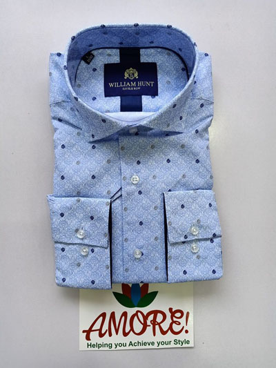 Light blue printed shirt