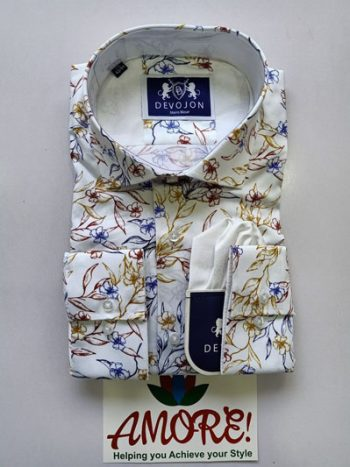 White floral multicolored shirt